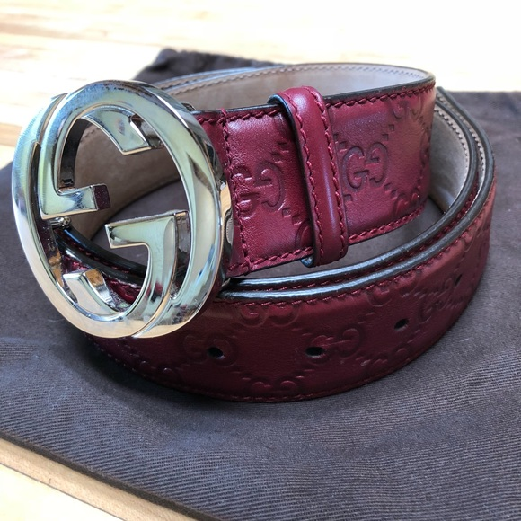 5c521ab6764 Gucci Other - Gucci Men s Leather Embossed Logo Belt
